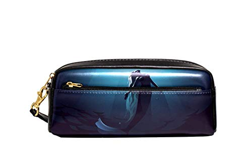 Lizard Gecko Pochette portable en cuir PU pour stylos, crayons, cosmétiques, maquillage 20.5x5x8.5cm/8.1x2x3.3in Style03