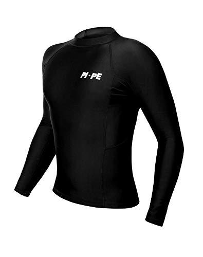PI-PE Rash Vest Rashguard - Camiseta de manga larga para hombre, esnórquel,...