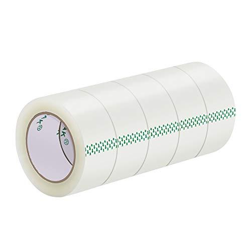 音静かテープ スコッチ ガムテープ 梱包テープ 厚さ0.05mm 幅50mm×100m 5巻セット カッター付 梱包用透明OPP粘着テープタータン ガムテープ