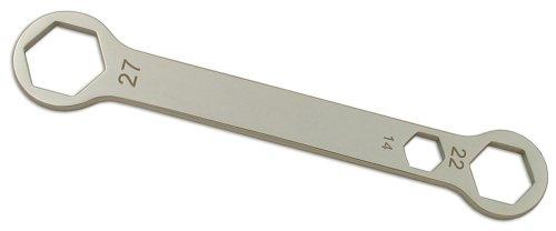 CruzTools AW142227 Kombi-Achsschlüssel, 14 x 22 x 27 mm