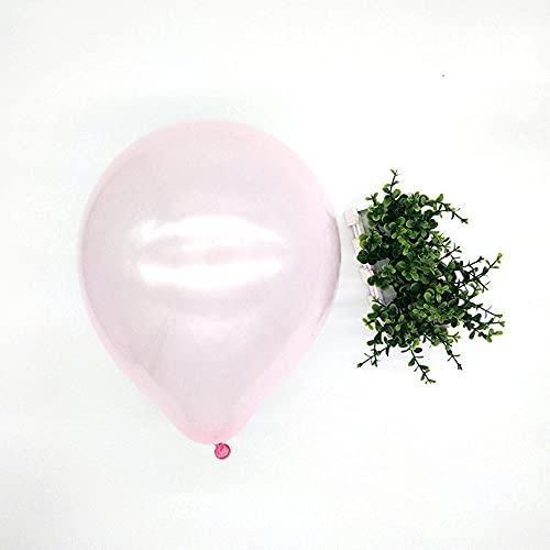 POTTBONS Globos, nacarado, látex, 10 pulgadas 2,2 gramos de color, 24 colores, escena de boda, cumpleaños, decoración de fiesta (100 piezas), rosa claro