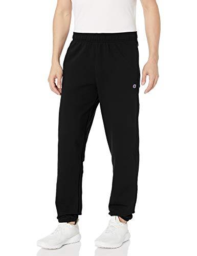 Champion Herren Powerblend Relaxed Bottom Fleece Pant Unterhose, schwarz, Groß
