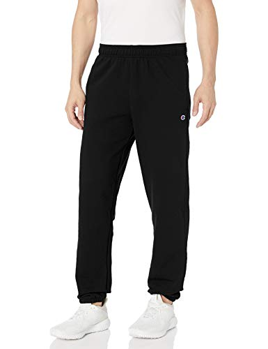 Champion Herren Powerblend Relaxed Bottom Fleece Pant Unterhose, schwarz, Mittel