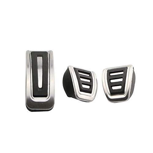Lucsiky Tapa de Pedal de Coche MT AT de Acero Inoxidable para Volkswagen Volkswagen Poretta MK4 para Piezas de automóvil Bora Golf MK4-MT 3 Piezas