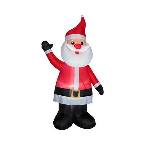 Gemmy 86177 w Christmas Inflatable 7' Santa with Red Nose | Airblown Inflatab, 7-Ft