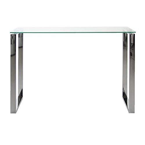 Eine Marke von Amazon - Movian Somes - Glastisch Konsole, 40 x 110 x 76cm, Hartglas/Chromgestell
