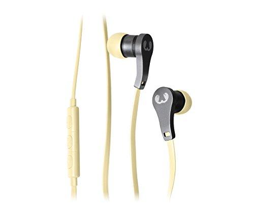 Auriculares con micrófono amarillo