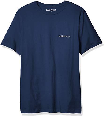 Nautica Men's Short Sleeve Solid Crew Neck T-Shirt, Estate Blue, X-Large
