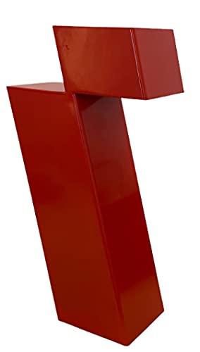 Falsa Escuadra. Lámpara de mesa Itero. Lámpara LED. Diseño Minimalista. Rojo. Ideal mesa, estantería, mesitas