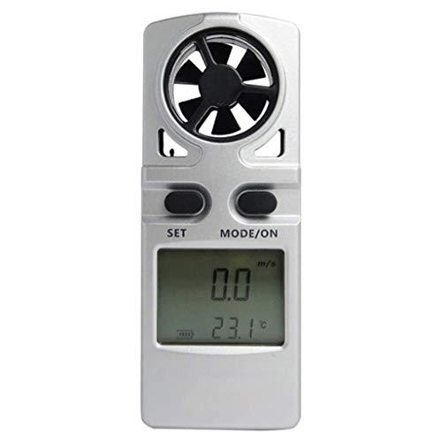 XIXIDIAN Anemómetro de Mano Digital, medidor de medidor de Velocidad del Viento medidor de Flujo de Aire, para medir la Velocidad del Viento, la Temperatura, Ideal para el Windsurf, la navegación, l