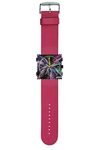 S.T.A.M.P.S. Stamps Uhr KOMPLETT - Zifferblatt Magic Blossom mit Lederarmband pink