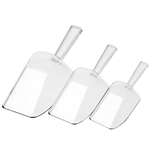 3pcs claro plástico cocina alimentos cucharadas raspador pala barra herramientas accesorios para...