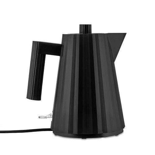 Alessi Plissè MDL06/1BUK - Bouilloire Électrique Design en Résine Thermoplastique, Prise Anglaise, 100 cl, Noir