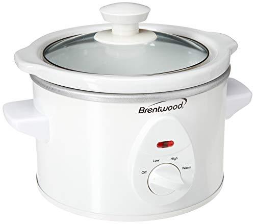 Brentwood Slow Cooker, 1.5 Quart, White