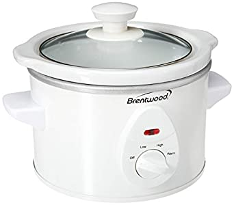 Brentwood Slow Cooker, 1.5 Quart, White