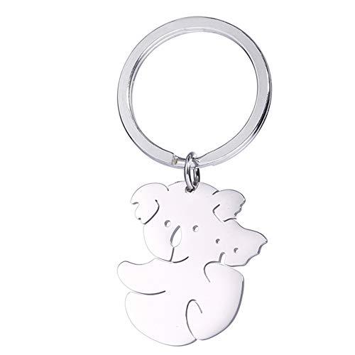 Vassago Porte-clés en acier inoxydable avec pendentif Koala Ours maman et Koala pour enfant
