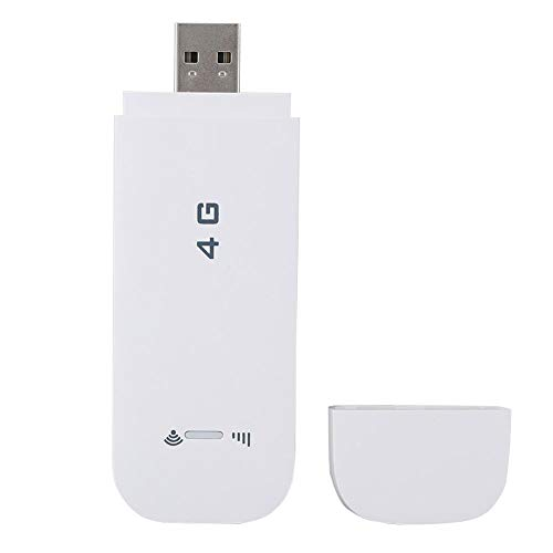 Goshyda Adaptador 4G LTE, Adaptador de Red inalámbrica USB 4G LTE de Alta Velocidad, Memoria de Gran Capacidad Pocket Router WiFi Modem Hotspot móvil