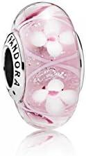PANDORA - Encantos de plata de Murano cristal PANDORA motivo trébol relojesde 790927