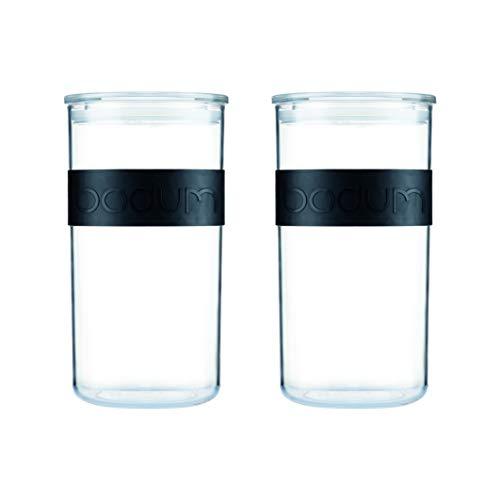 PRESSO, Set aus 2 Vorratsgläsern, Kunststoff, 2 l