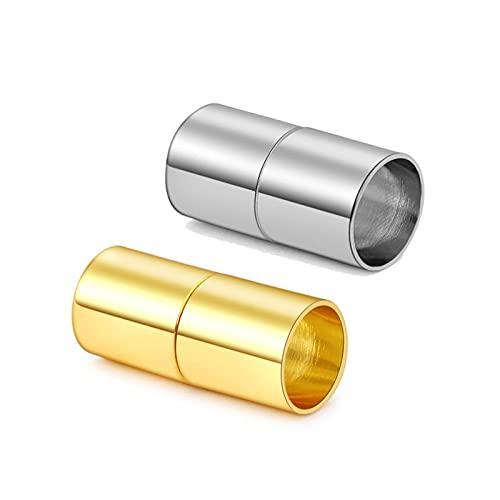 BOSAIYA PJ1 10 unids Class magnéticos de Oro 6 8 Conectores de Pulsera de cordón de Cuero de 10 mm para la joyería de Bricolaje Que Hace Accesorios Tl720 (Color : 5, Size : 10pcs x 6mm)