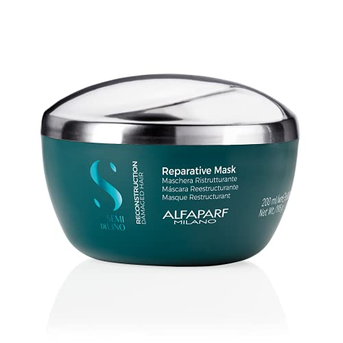 Alfaparf Reconstruction Mask 200ML, Semidilino Reconstruct Reparative Mascarilla 200 ml Unisex Adulto, Único, Estándar