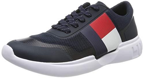 Tommy Hilfiger Herren Corporate Knit MODERN Runner Sneaker, Blau (Midnight 403), 43 EU