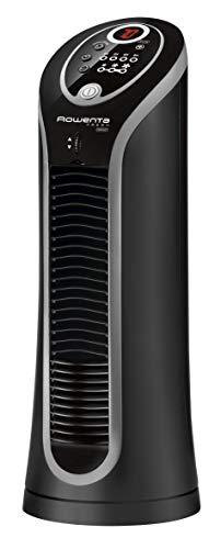 Rowenta Vu6211 Fresh Compact Turmventilator, klein, schwarz/silber
