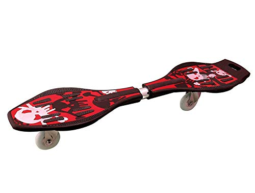 Prime Deals Alloy Steel Wave Skate Board with LED Flash Colorful Lights on Wheels and Carry Bag (Assorted Colour, 31 x 8 Inches)