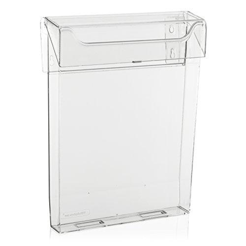 Wetterfeste Prospektbox/Prospekthalter mit Deckel (auch für den Aussenbereich) (DIN A4)