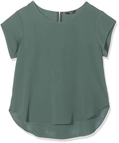 ONLY Damen ONLVIC S/S SOLID TOP NOOS WVN T-Shirt, Grün (Balsam Green Balsam Green), 44