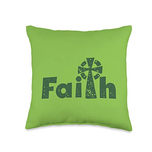 Happy Catholics St Patricks Day Irish Celtic Cross Catholic Faith Throw Pillow, 16x16, Multicolor