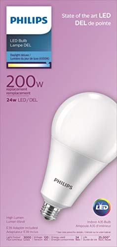 Philips 479295 24A35 LED 865 P E26E39 ND 4 1FB Light Bulb, Day Light Delux