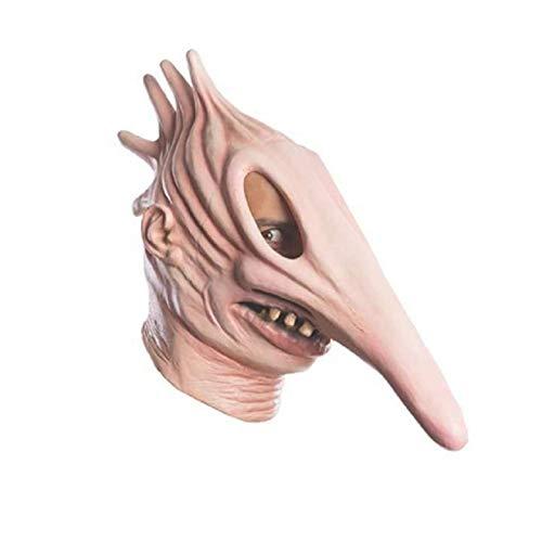 Barbara und Adam Beetlejuice Maske, Halloween Maske Scary Halloween Cosplay Kostüm Maske für Erwachsene Party Dekoration Requisiten, Horror Look, Free Size