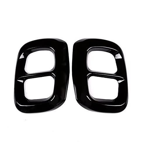 Warmhouse 2 unids de Acero Inoxidable Negro Brillante para Mercedes Benz GLA Clase X156 Cubierta de Cola de Salida de automóvil Accesorios (Color : Glossy Black)