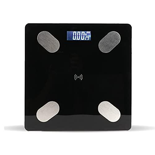 Báscula electrónica dormitorio hombres y mujeres pérdida de peso de la vida báscula de peso gordo casa pequeña báscula electrónica se puede conectar a la aplicación móvil Bluetooth multifunción loador