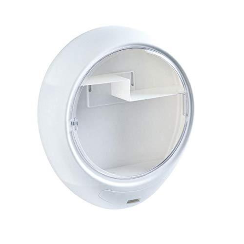 fedsjuihyg Wand- Makeup Storage Box Cosmetic Organizer Staubdichtes Kosmetik-Halter für Schmuck Lippenstifte Bürsten Parfüm, Weiss