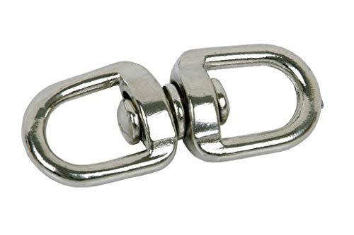 DOJA Industrial | Anillo Giratorio M8 | PACK 5 | Quitavueltas de acero | Para correas, llaveros, pesca, cadenas para perros entre otros usos