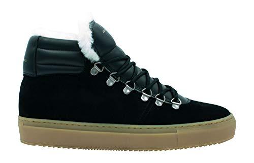 Zespà Damen Sneaker ZSP2 Suede Lining Shearling Black - 38