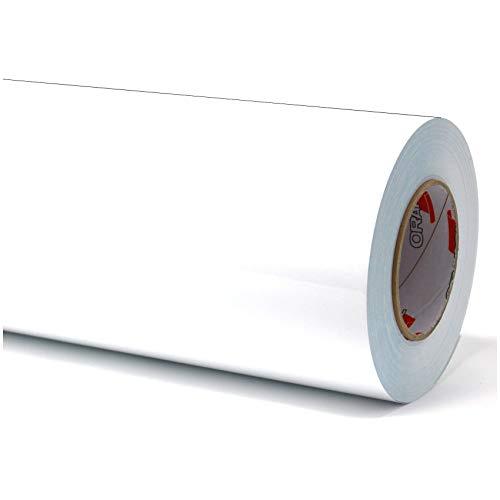 Finest Folia (7€/m² Plotterfolie Möbelfolie glänzend Glanz Klebefolie Küchenfolie Selbstklebende PVC Folie 63cm Medienbreite (010 Weiß, 5 Meter)