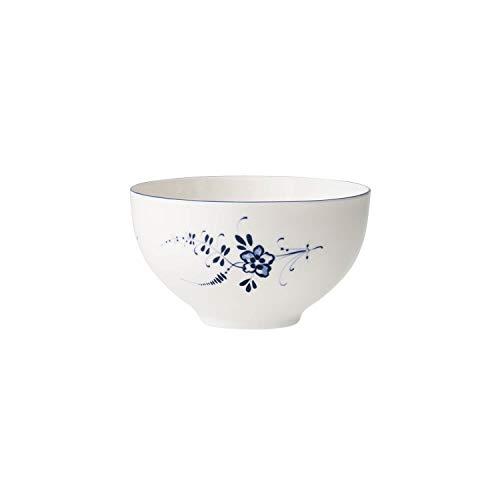 Villeroy & Boch Vieux Luxembourg Bol, 13 cm, Porcelaine Premium, Blanc/Bleu