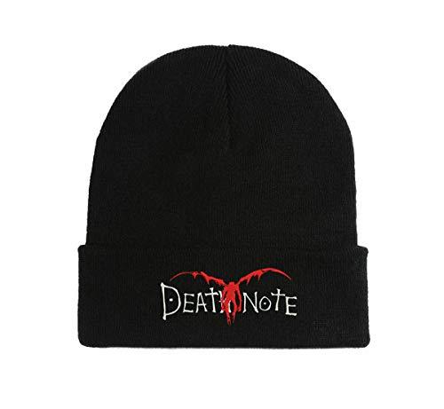 Death Note Anime Manga Gestickte Strickmütze Beanie Winter Herbst Mütze