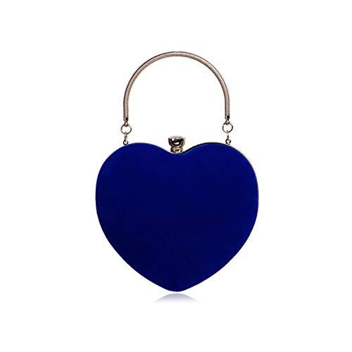 NICOLE & DORIS Bolso de Noche para Mujer Bolsos de Fiesta Clutch Bolsa de Hombro Bolso de Mano Bolsos Boda Bolso de Cadena Azul