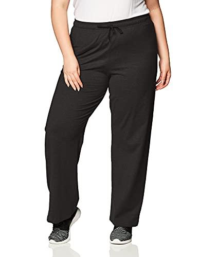 Champion Women's Plus-Size Jersey Pant, Black, 3X