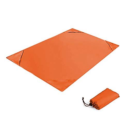 Beach Blanket, Mini Sand Free Stranddecke, Sand Proof Picnic Outdoor Mat, Waterproof Tragbare Picknickdecke for Travel Camping Hiking, 140 x 200cm