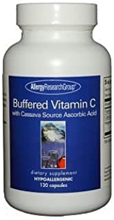 Allergy Research Group - Buffered Vitamin C Caps Cassava Source - 120