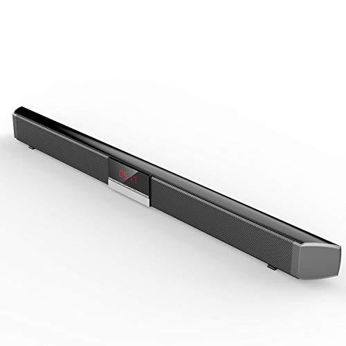 Yi-xirfashion Design 40W Bluetooth-Soundbar-Computer-Lautsprecher mit DSP-Uhr Heavy Effect-Verrüchnis-Duple-Integrierte Subwoofer-Display-Bildschirm Wireless Portable travel (Color : UK Plug)