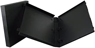 UniKeep 3 Ring Binder - Black - Case View Binder - 1.5 Inch Spine - with Clear Outer Overlay - Pack of 3 Binders