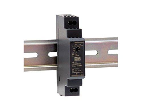 Mean Well HDR-15-24 Fuente de alimentación: 1 Salida de 15 W, Montaje en Carril DIN 24 V 0,63 A para Uso Industrial