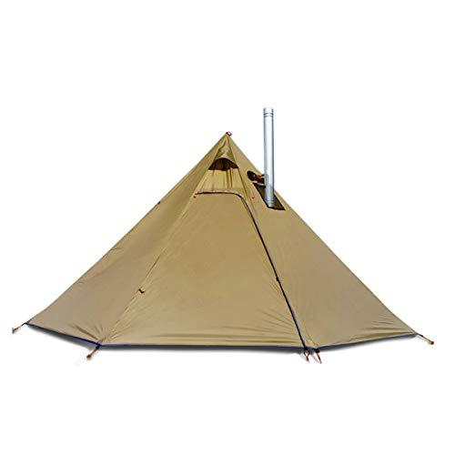 Tienda de campaña tipi ligera para 4 personas, para mochileros, camping, senderismo