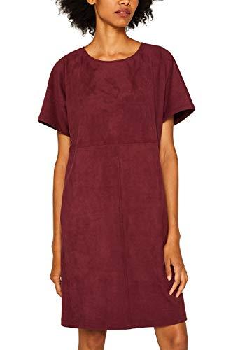 ESPRIT Damen 089Ee1E014 Kleid, Rot (Bordeaux Red 600), (Herstellergröße: 38)